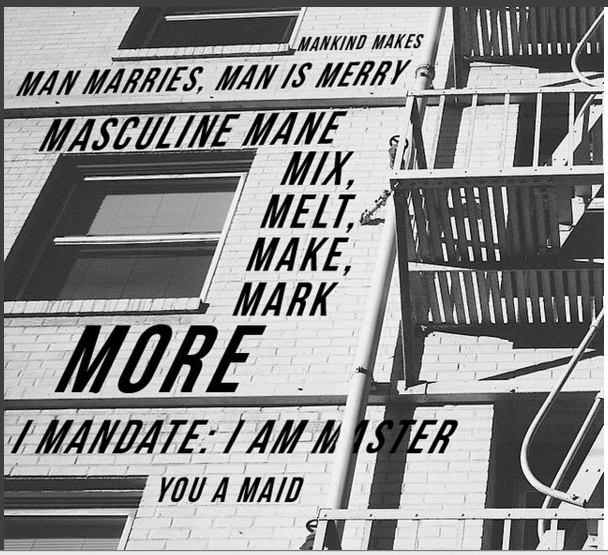 photo of my poem 'Mankind Makes' as posted on project pen